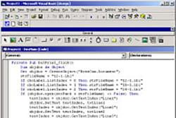 Kompiuterio langas su tekstu
