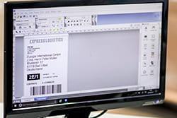 Etiketė kompiuterio ekrane