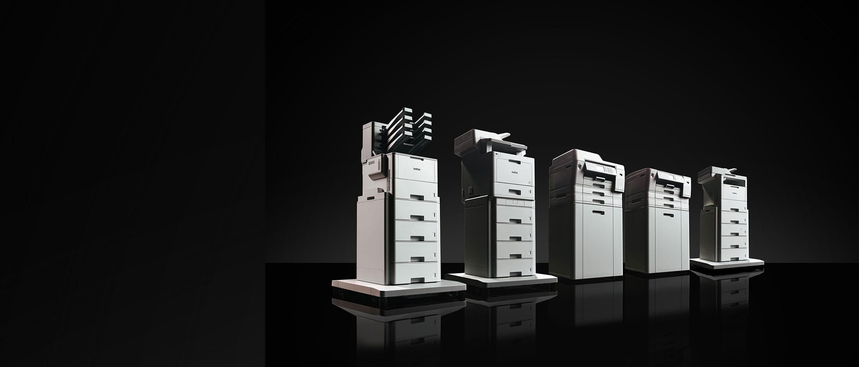 Brother MFC-L9570CDW, MFC-L6900DW, HL-L9310CDW, MFC-J6947DW ir HL-J6000DW profesionalių verslo spausdintuvų grupė nespalvotai