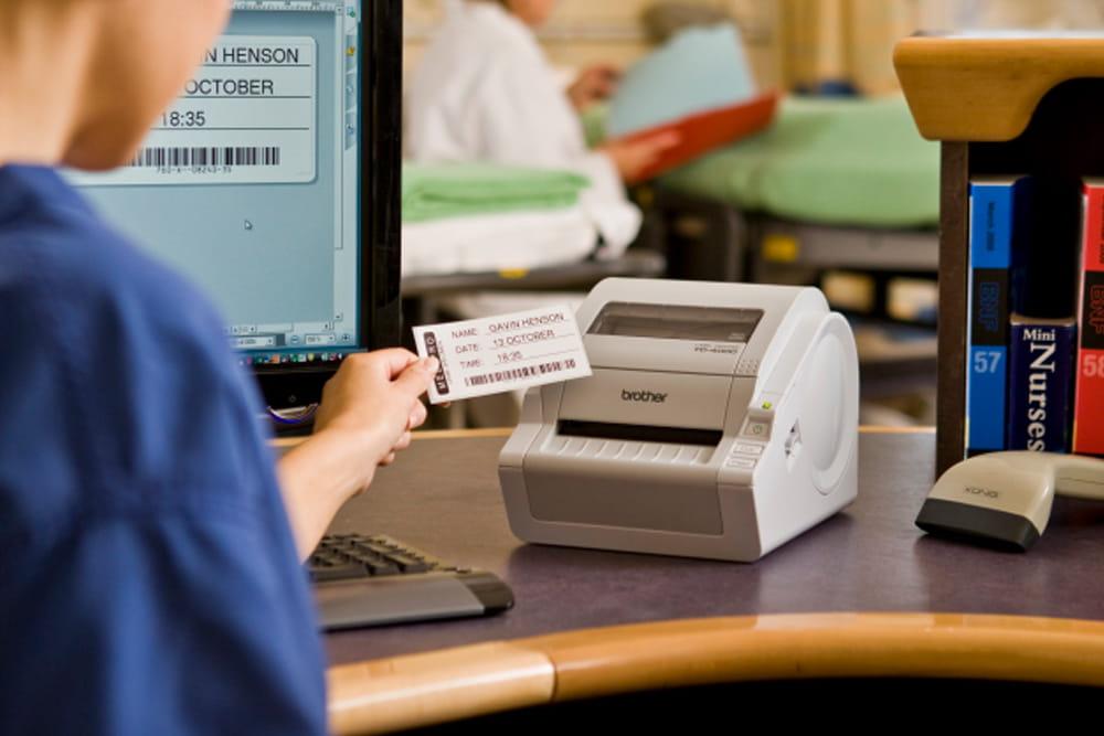 Patient name badge print