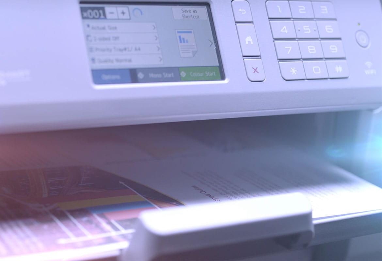Brother MFC-J6947DW A3 ir A4 formato rašaliniai spausdintuvai verslui su spausdinimo parinktimis LCD ekrane