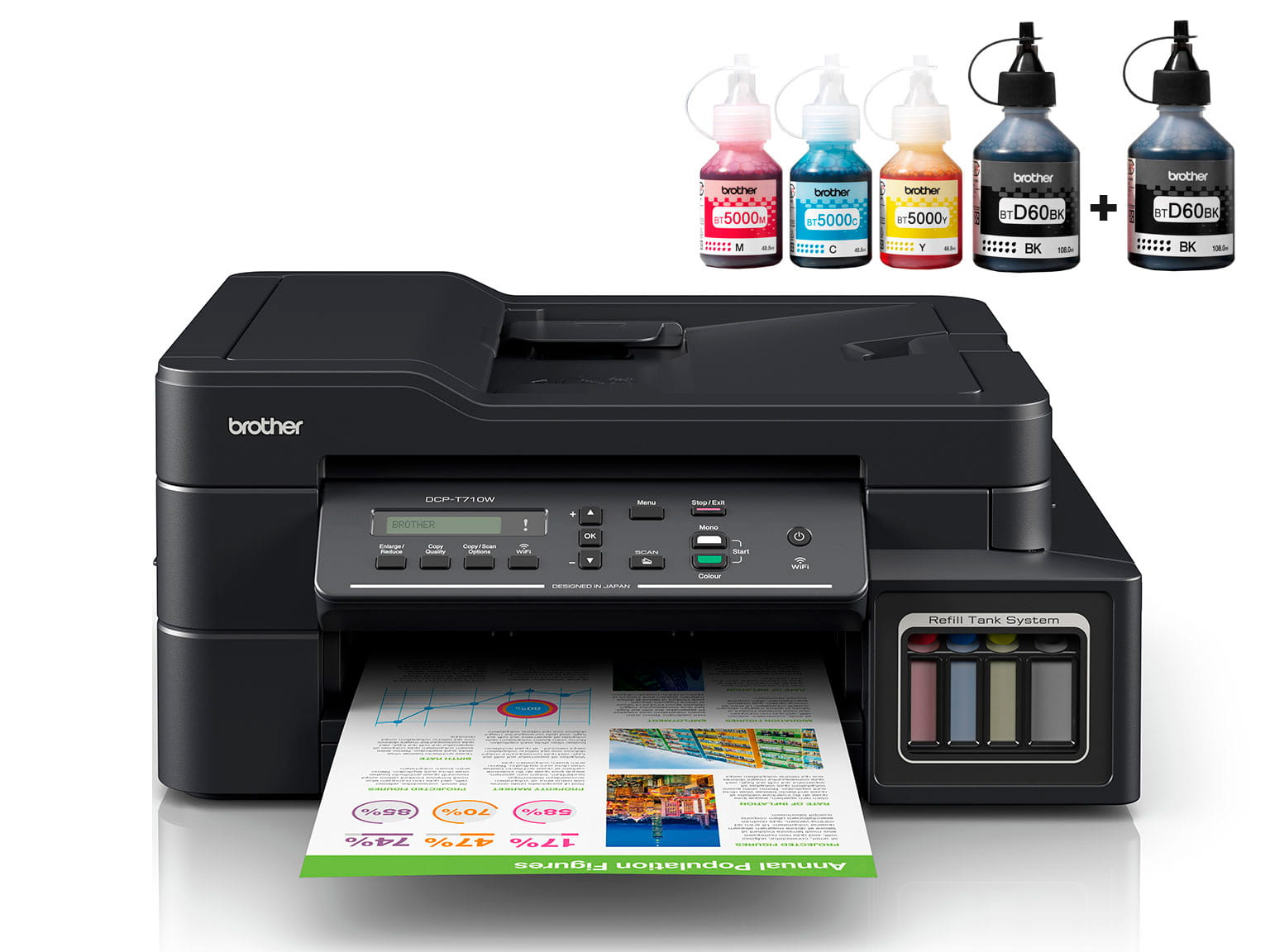 Brother InkBenefit Plus inkjet printer DCP-T710W