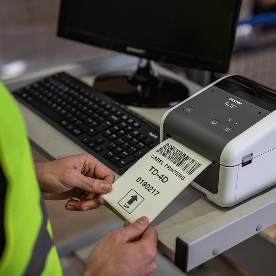 Brother TD-4520DN profesionalus stalinis į tinklą jungiamas etikečių spausdintuvas 5