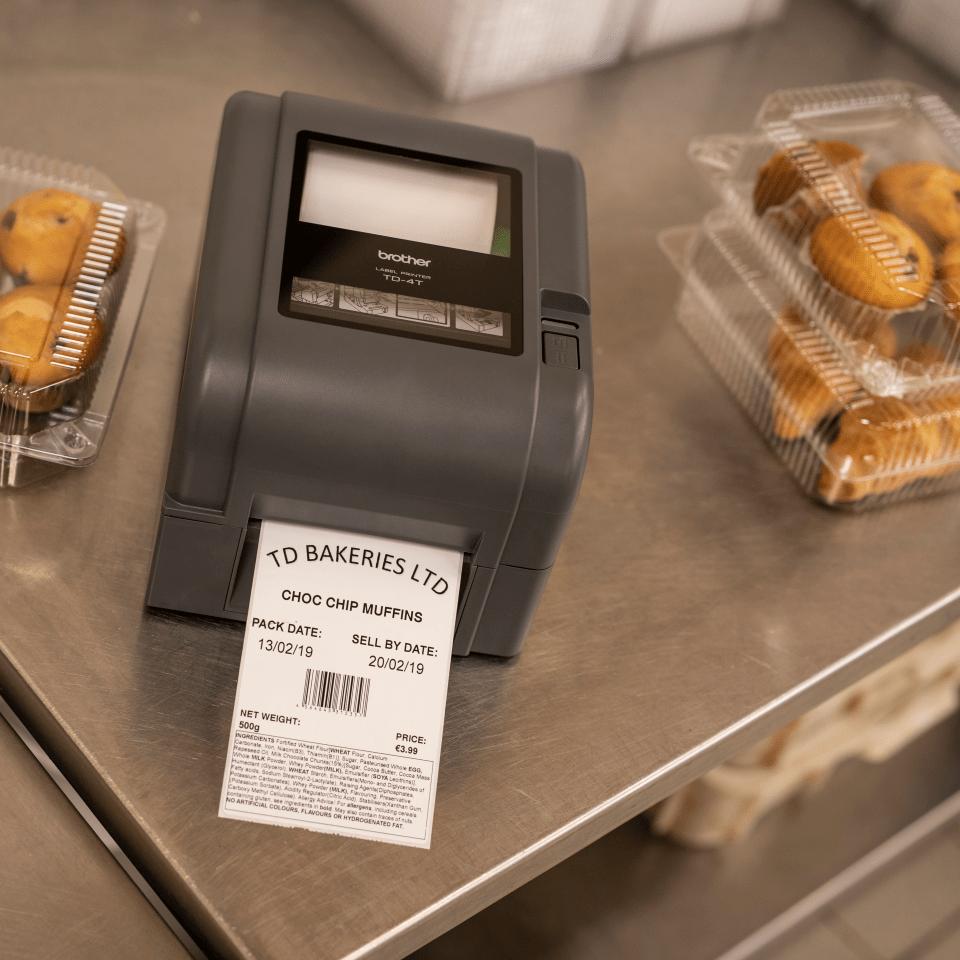 Brother TD-4520TN terminio perdavimo stalinis etikečių spausdintuvas 8