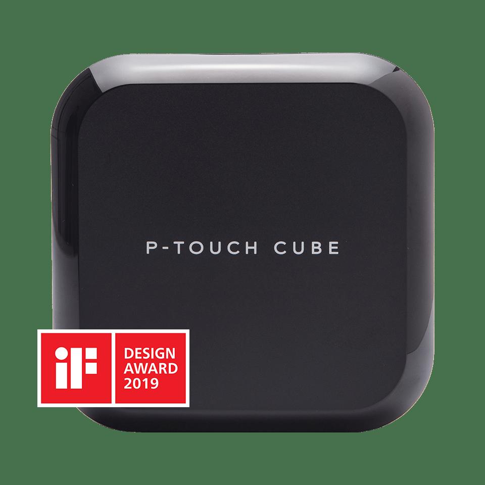 P-touch CUBE Plus įkraunamas etikečių spausdintuvas su Bluetooth jungtimi