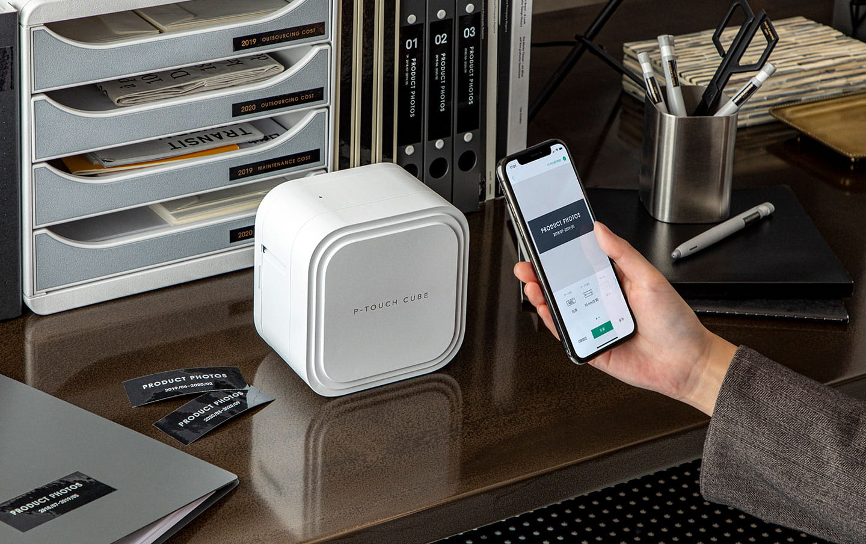 """""""P-touch CUBE Pro"""" (PT-P910BT) įkraunamas etikečių spausdintuvas su Bluetooth jungtimi 5"""