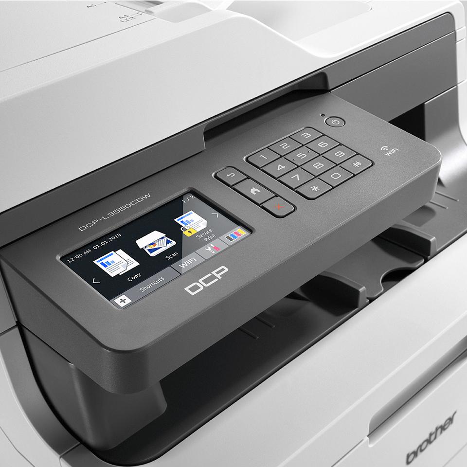 "DCP-L3550CDW spalvotas belaidis LED ""3-in-1"" spausdintuvas 4"
