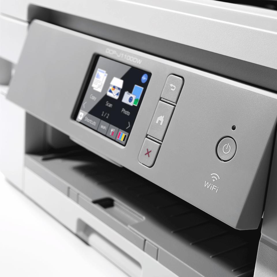 """Belaidis """"3-in-1"""" spalvotas rašalinis spausdintuvas DCP-J1100DW """"Viskas dėžėje"""" rinkinys 5"""