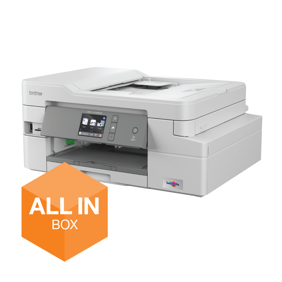 """Belaidis """"3-in-1"""" spalvotas rašalinis spausdintuvas DCP-J1100DW """"Viskas dėžėje"""" rinkinys"""