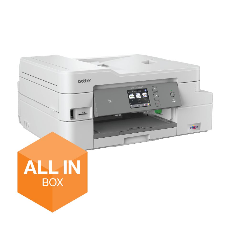 """Belaidis """"4-in-1"""" spalvotas rašalinis spausdintuvas MFC-J1300DW """"Viskas dėžėje"""" rinkinys 2"""
