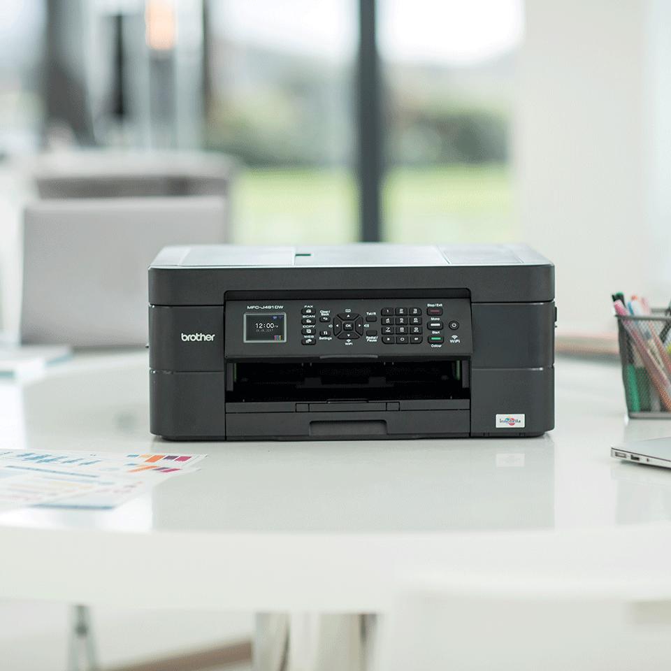 Belaidis 4-in-1 spalvotas rašalinis spausdintuvas MFC-J491DW 3