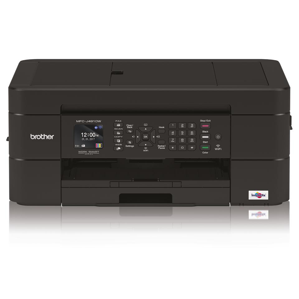 Belaidis 4-in-1 spalvotas rašalinis spausdintuvas MFC-J491DW 7