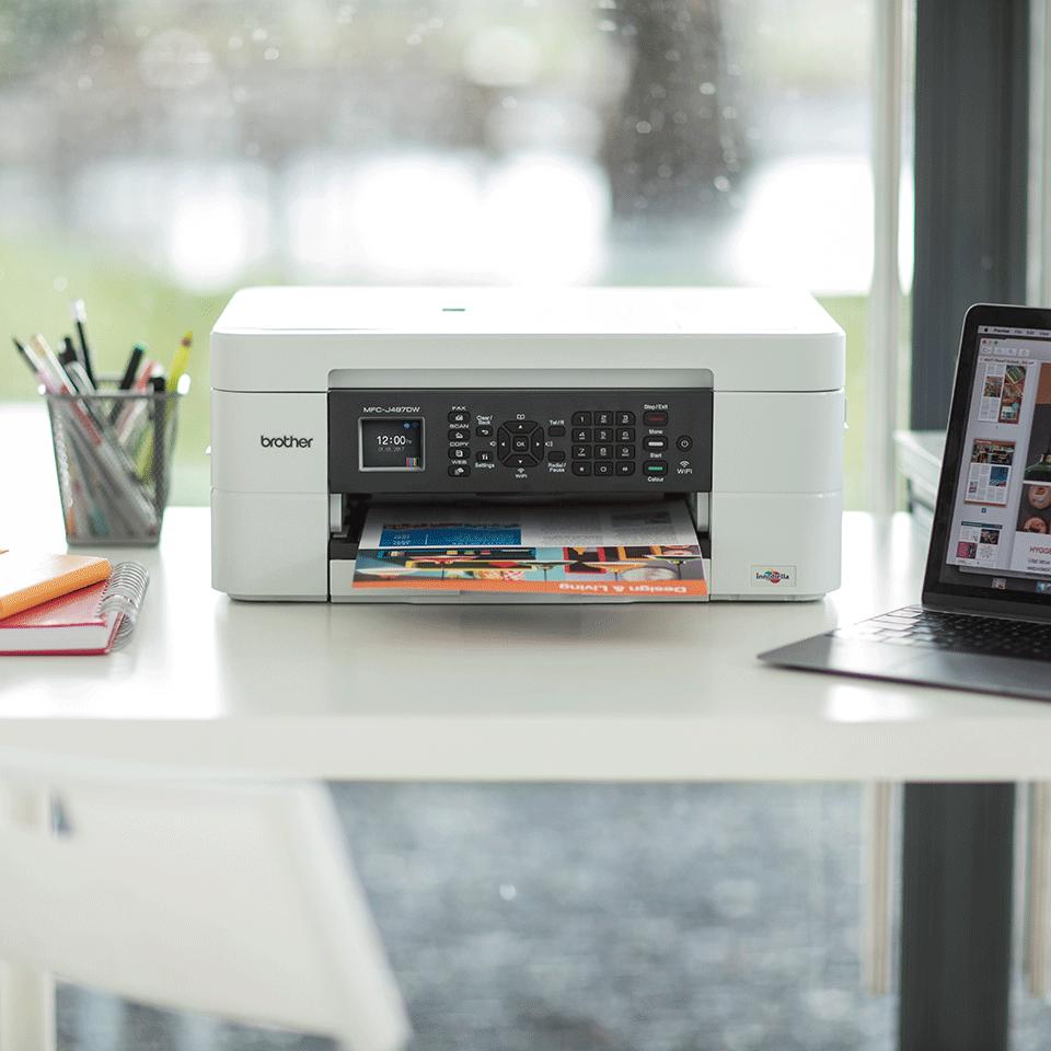 Belaidis 4-in-1 spalvotas rašalinis spausdintuvas MFC-J497DW 4