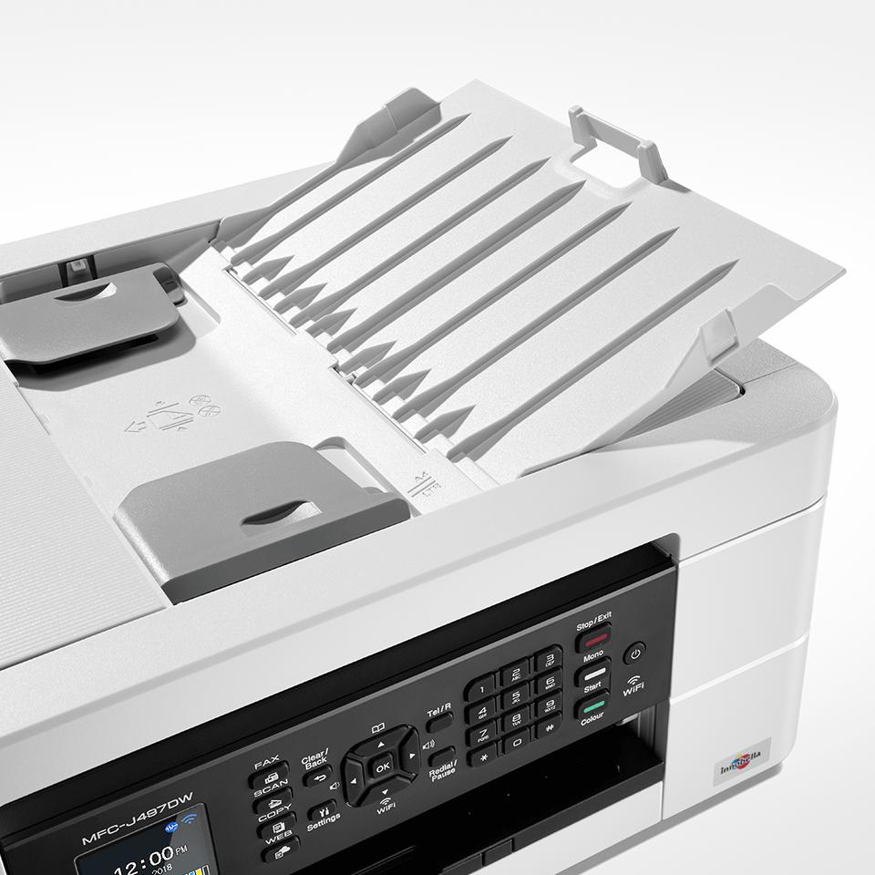Belaidis 4-in-1 spalvotas rašalinis spausdintuvas MFC-J497DW 5
