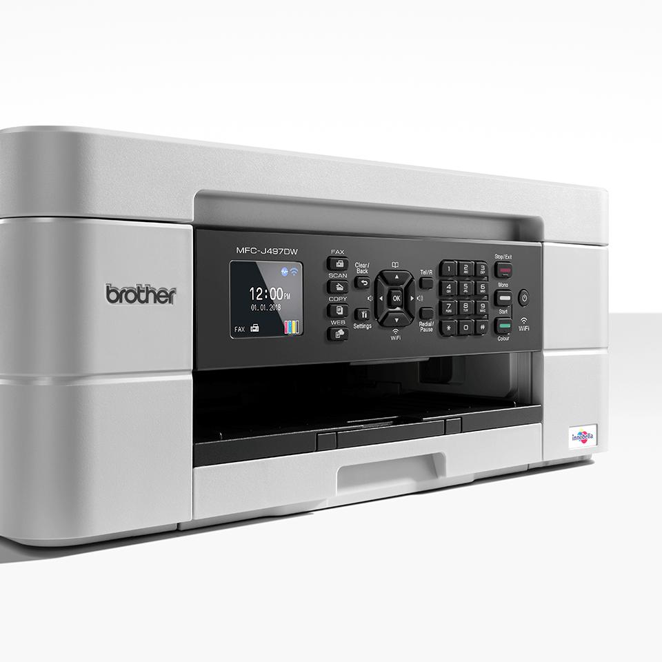 Belaidis 4-in-1 spalvotas rašalinis spausdintuvas MFC-J497DW 6