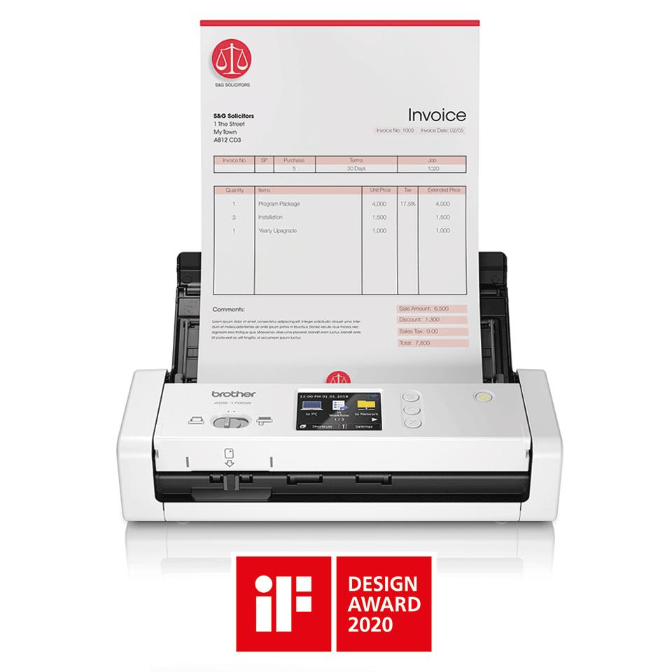 ADS-1700W sumanus, kompaktiškas dokumentų skaitytuvas 4
