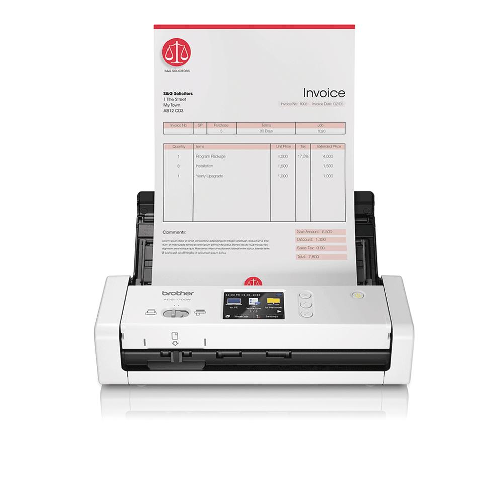ADS-1700W sumanus, kompaktiškas dokumentų skaitytuvas