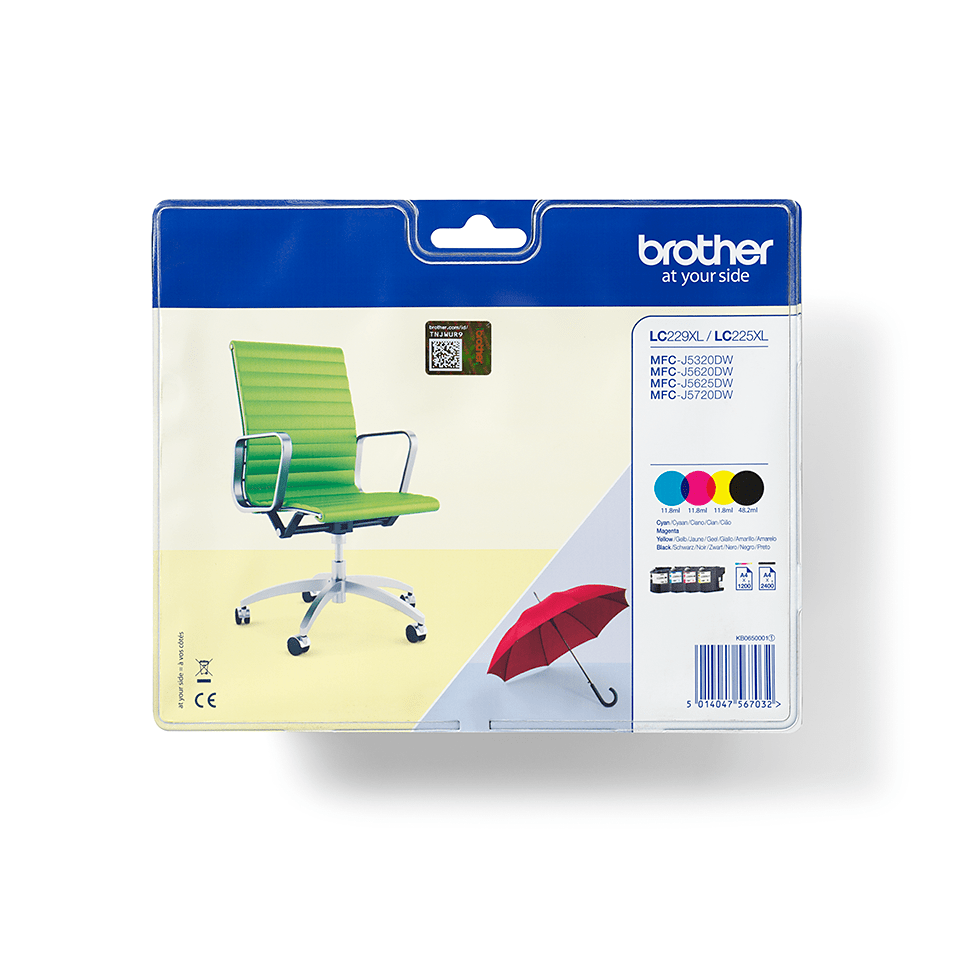 Genuine Brother LC229XLVALBP High Yield Ink Cartridge Multipack