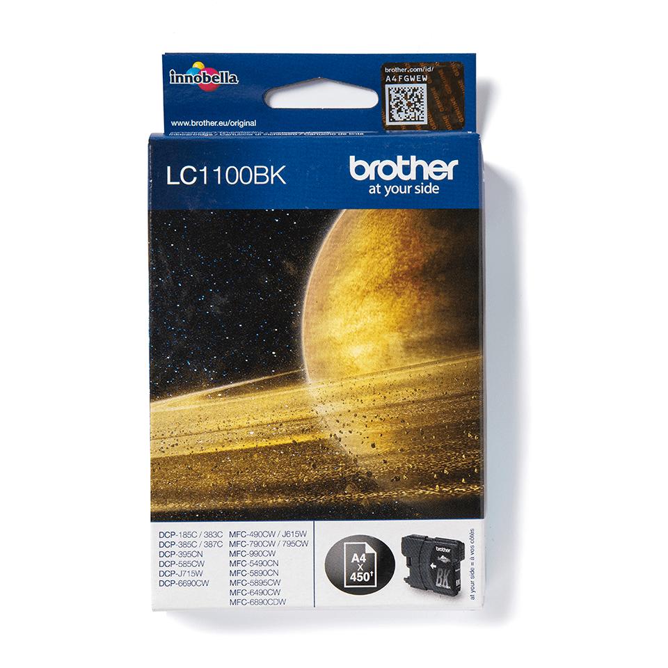 Originali Brother LC1100BK juodos spalvos rašalo kasetė 0