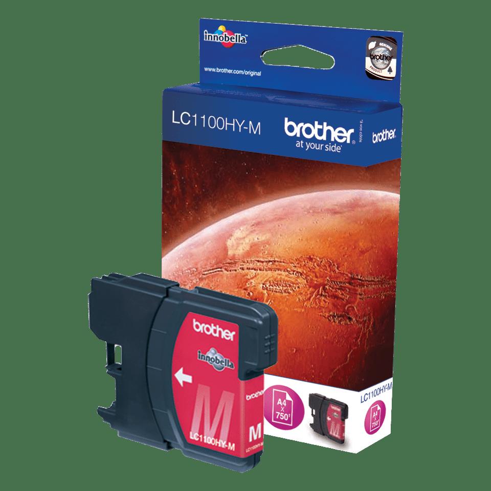 Originali Brother LC1100HYM didelio našumo rašalo kasetė – magenta spalvos