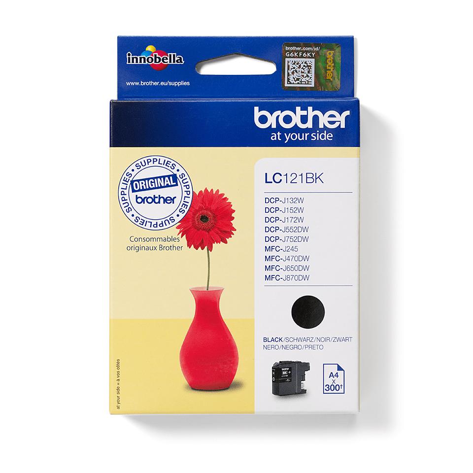 Originali Brother LC121BK rašalo kasetė – juodos spalvos