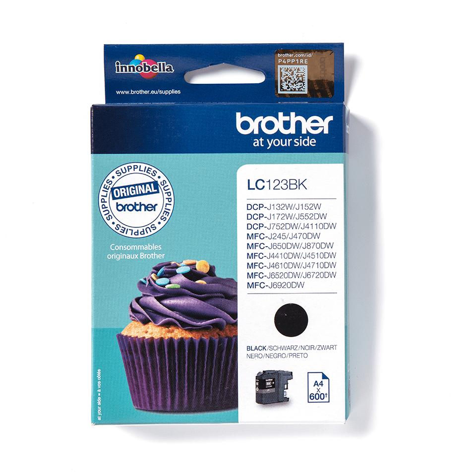 Originali Brother LC123BK rašalo kasetė – juodos spalvos