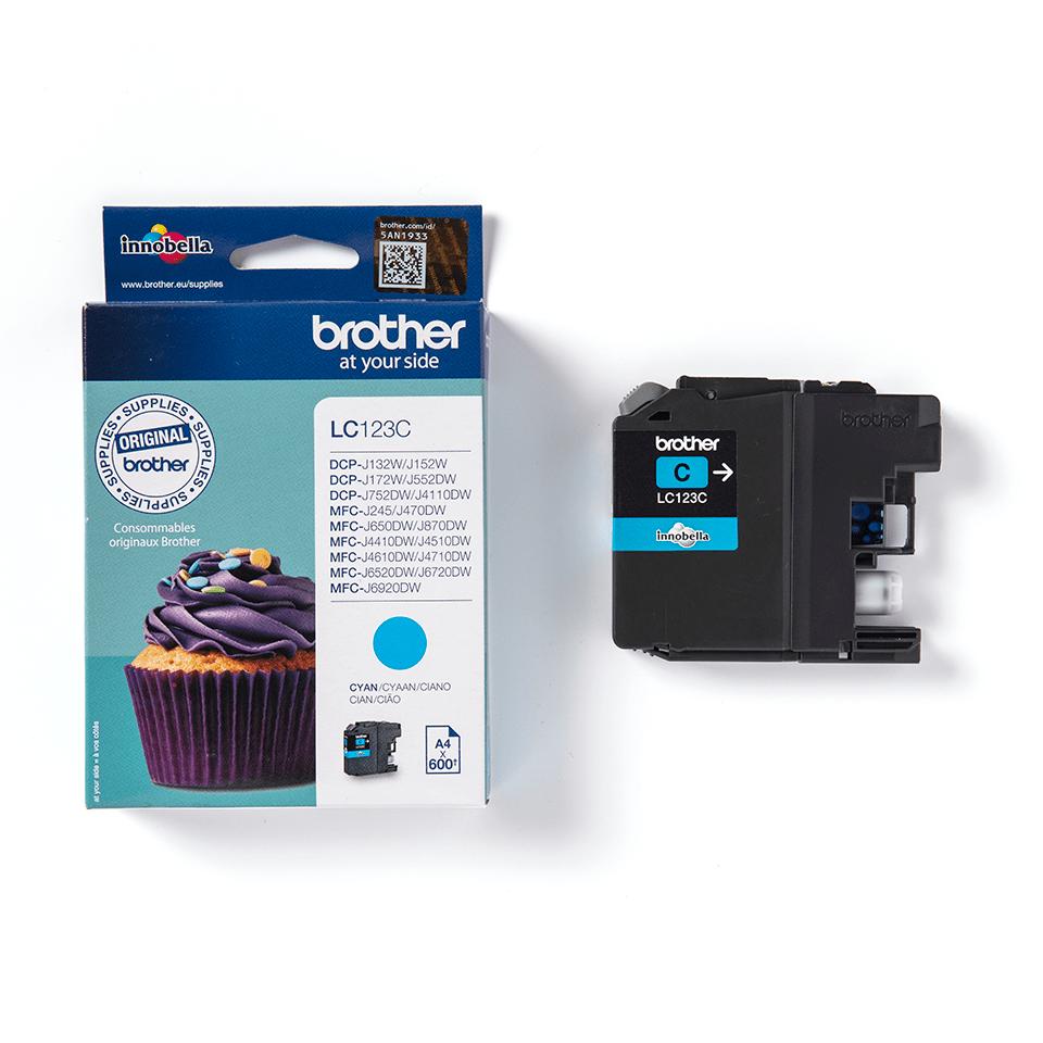 Originali Brother LC123C rašalo kasetė – Cyan spalvos 2