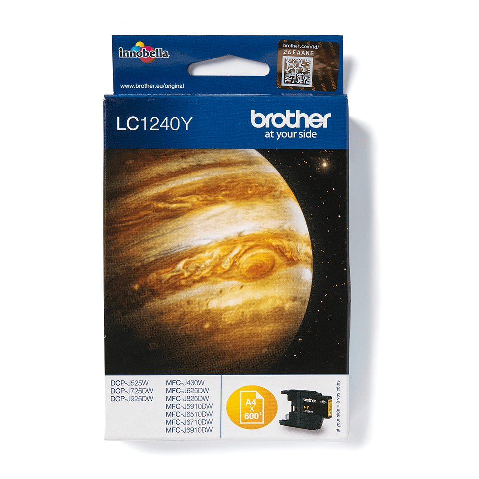 Genuine Brother LC1240Y Ink Cartridge – Yellow
