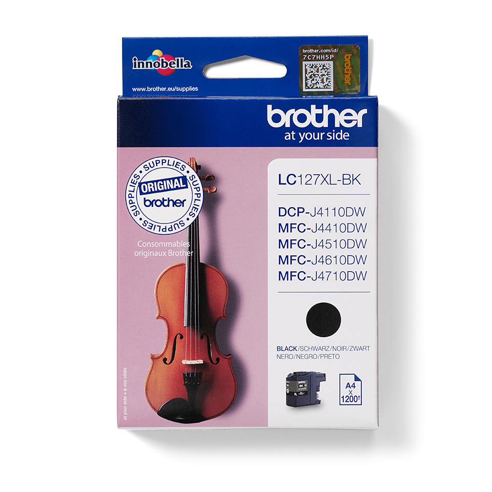 Genuine Brother LC127XLBK High Yield Ink Cartridge – Black