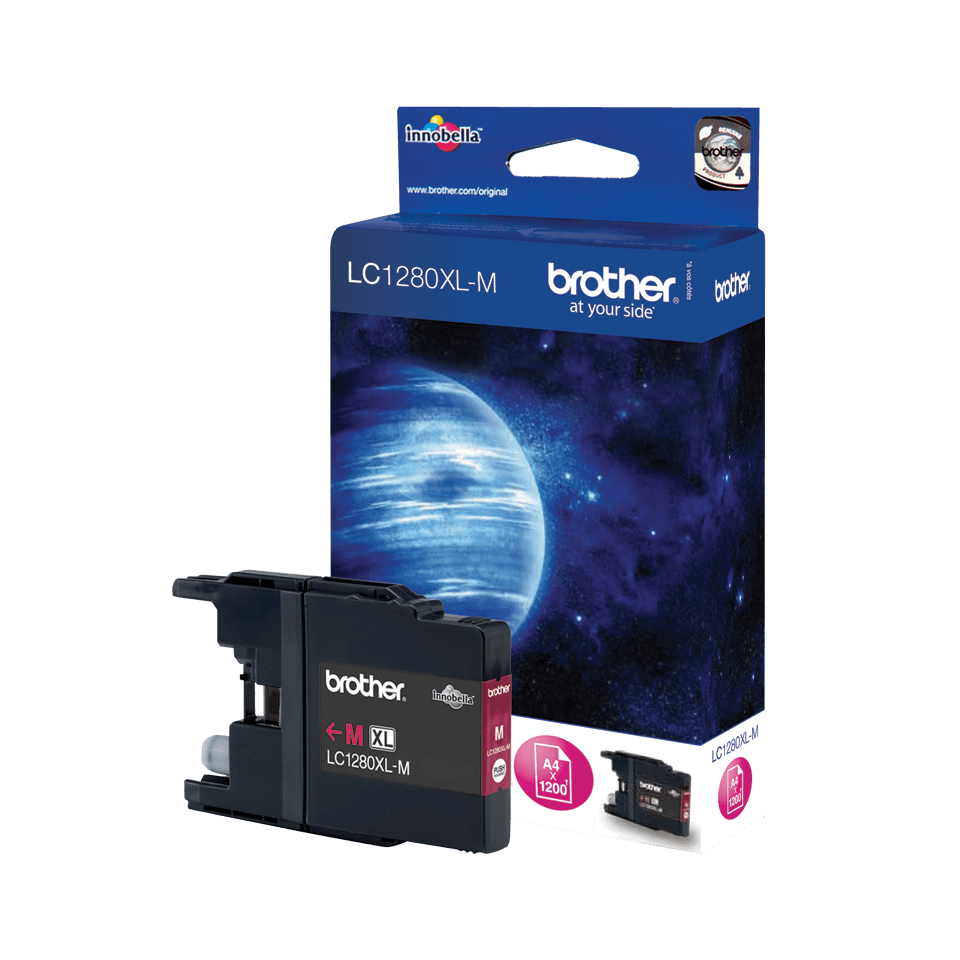 Genuine Brother LC1280XLM High Yield Ink Cartridge – Magenta