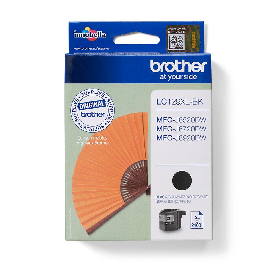 Originali Brother LC129XLBK didelio našumo rašalo kasetė – juodos spalvos