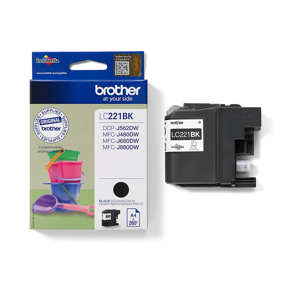Genuine Brother LC221BK Ink Cartridge – Black 2