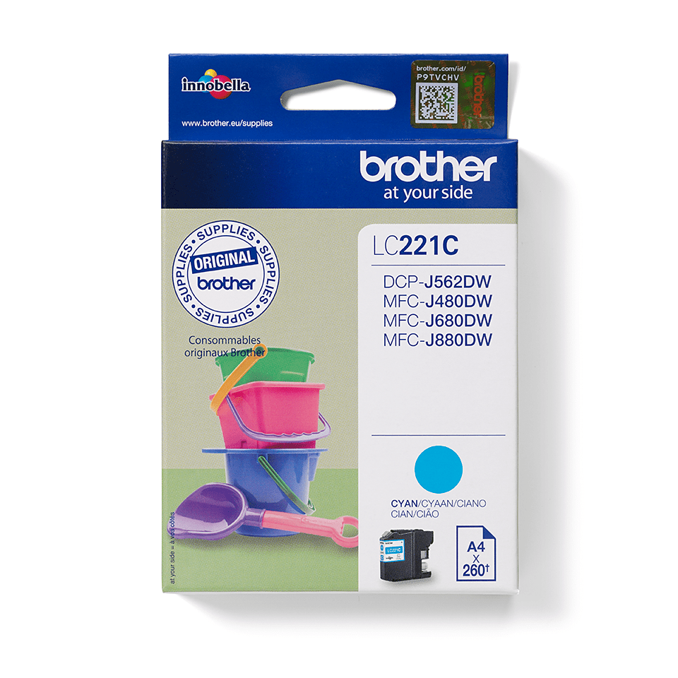 Genuine Brother LC221C Ink Cartridge – Cyan