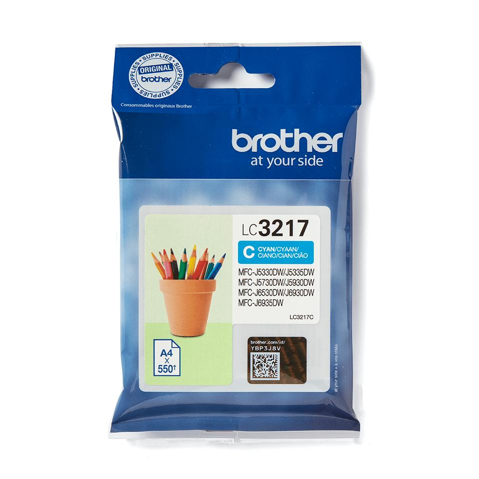 Originali Brother LC3217C rašalo kasetė – Cyan spalvos 1