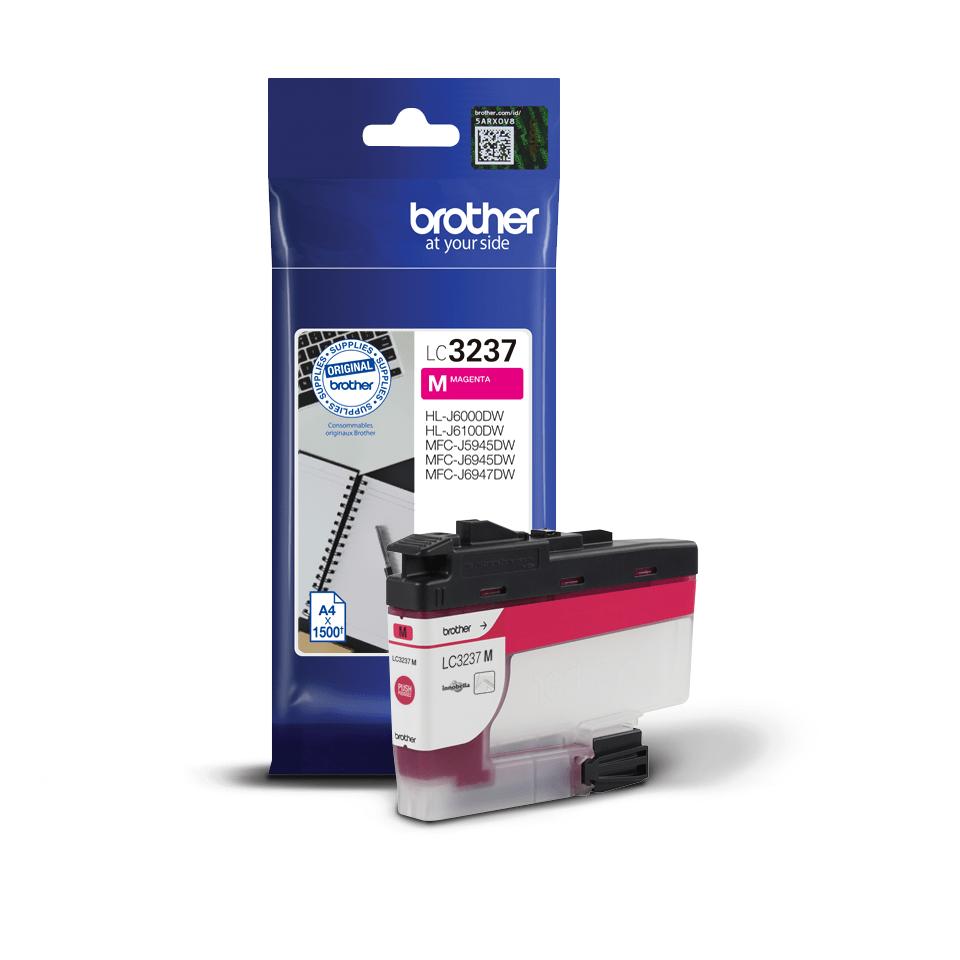 Originali Brother LC3237M rašalo kasetė – Magenta spalvos 2