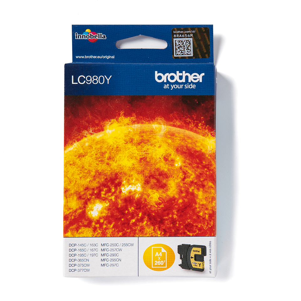 Genuine Brother LC980Y Ink Cartridge – Yellow