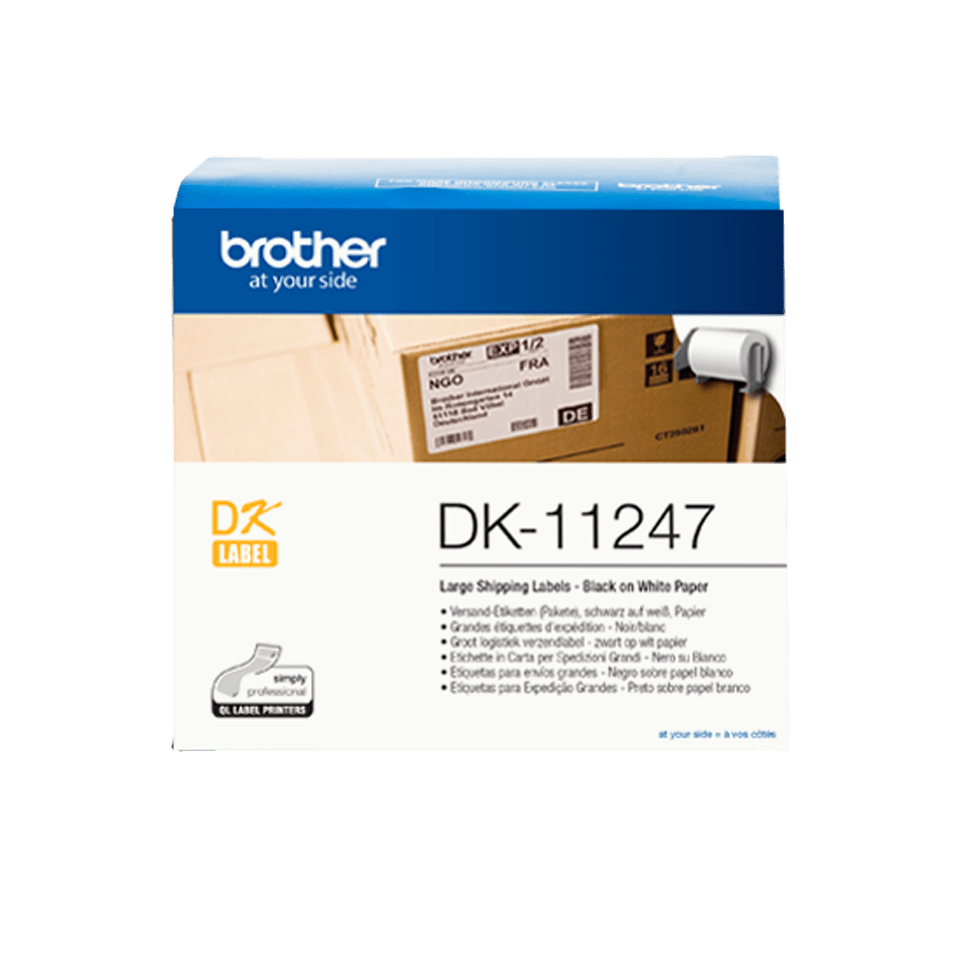 Brother DK-11247 etikečių ritinėlis – 103 mm x 164 mm