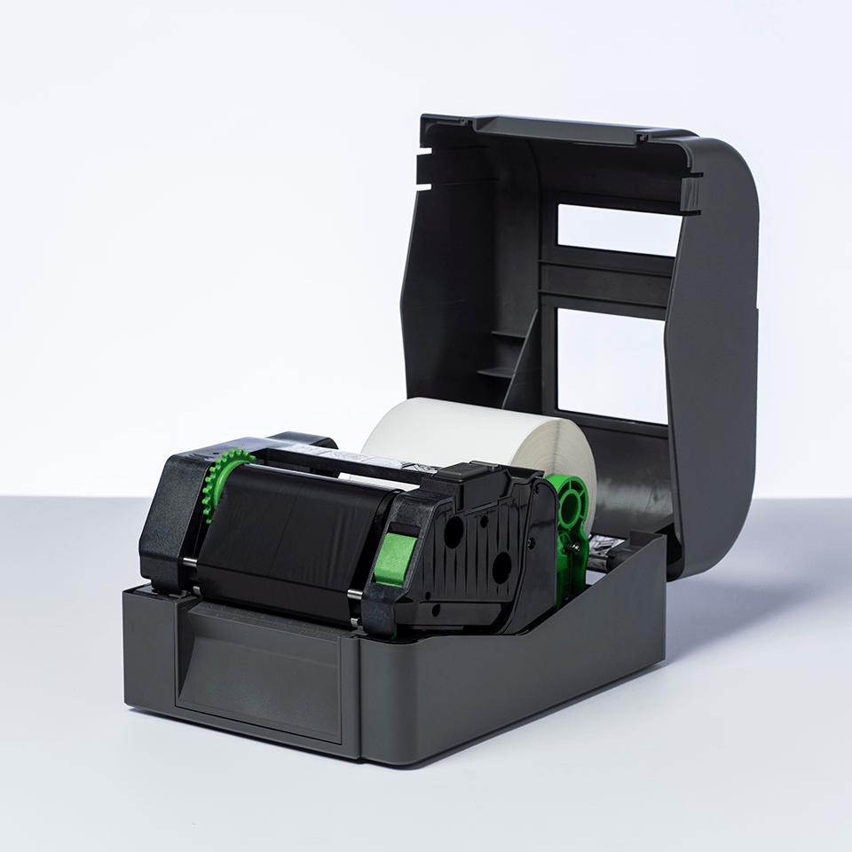 Išskirtinės kokybės vaškinė juodo rašalo terminio perdavimo juosta BWP-1D300-110  2