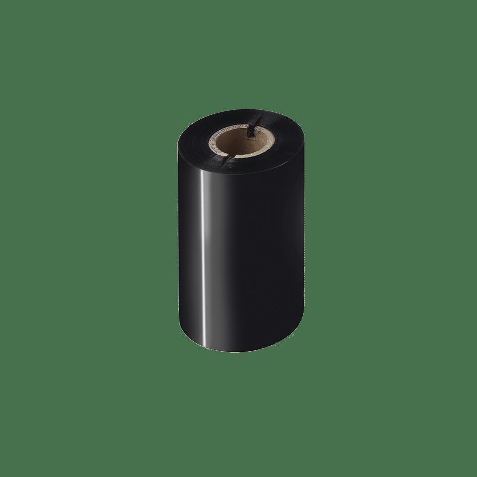 Išskirtinės kokybės vaškinė juodo rašalo terminio perdavimo juosta BWP-1D300-110