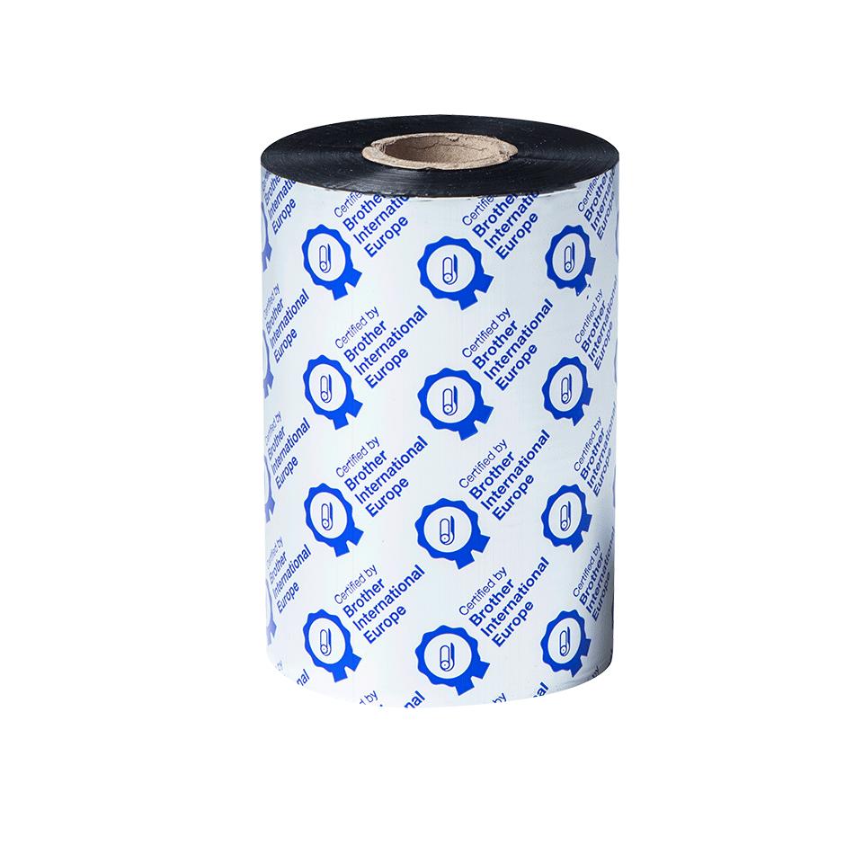 Išskirtinės kokybės juodo rašalo terminio perdavimo juosta iš vaško/dervos BSP-1D450-110 2
