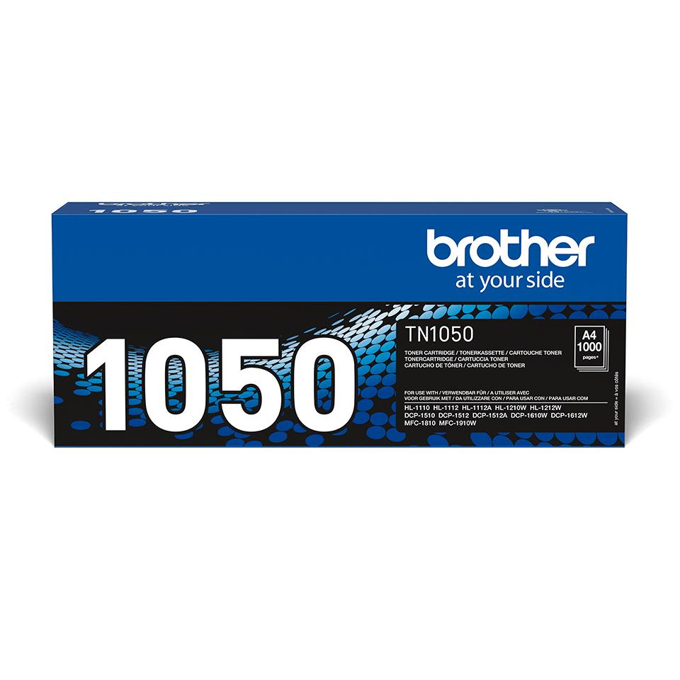 Originali Brother TN1050 dažų kasetė – juodos spalvos