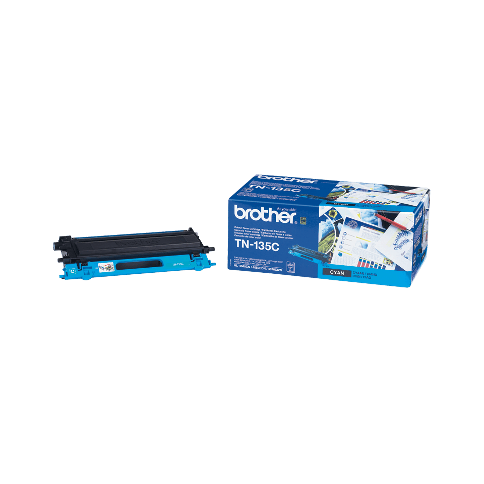 Genuine Brother TN-135C High Yield Toner Cartridge – Cyan 2