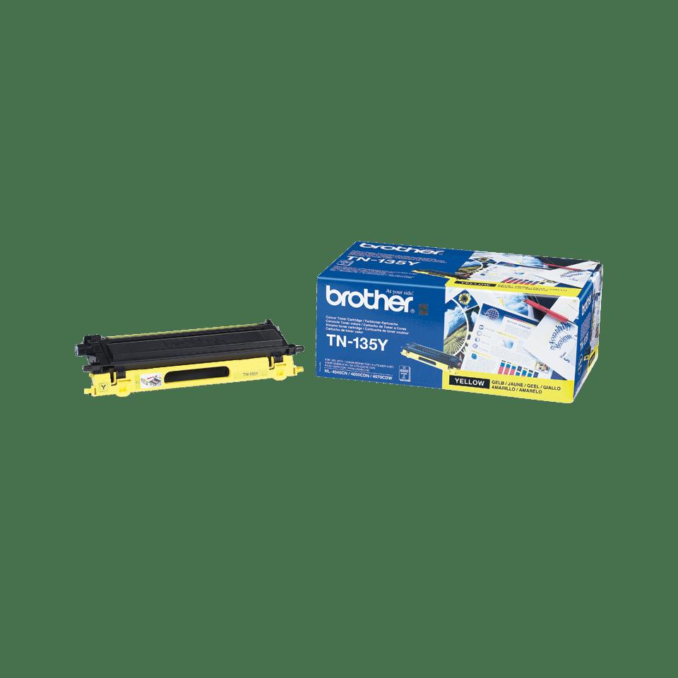 Originali Brother TN135Y didelio našumo dažų kasetė – geltonos spalvos  2