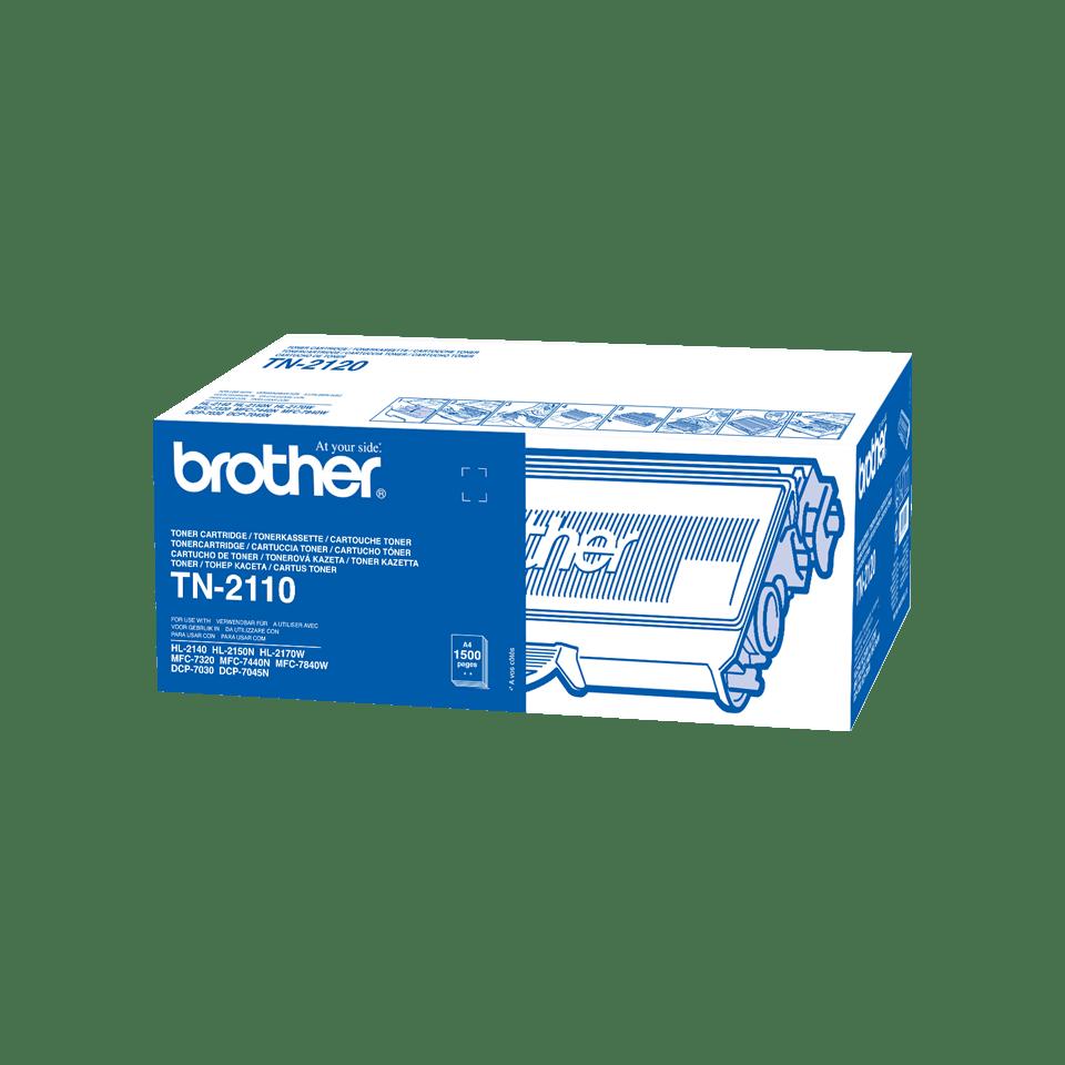 Originali Brother TN2110 dažų kasetė – juodos spalvos