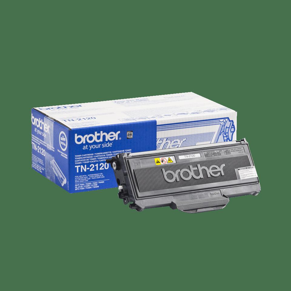 Originali Brother TN2120 didelio našumo dažų kasetė – juodos spalvos