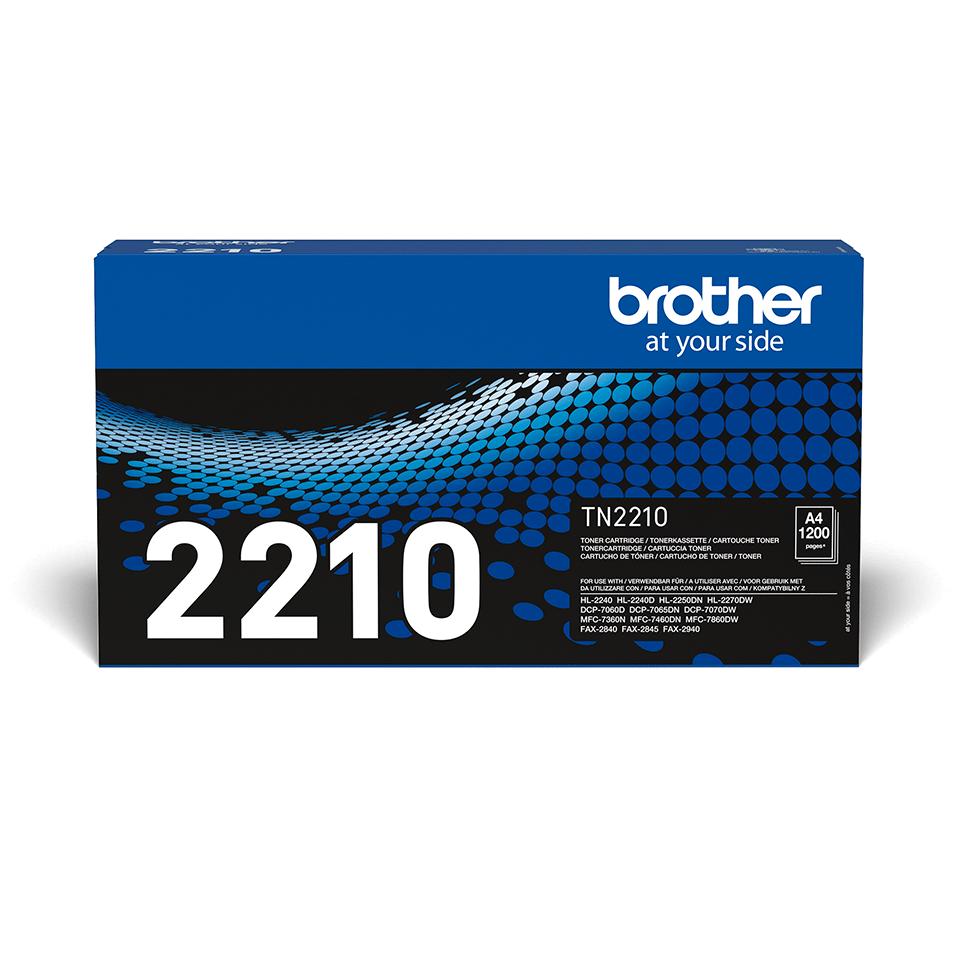 Originali Brother TN2210 dažų kasetė – juodos spalvos