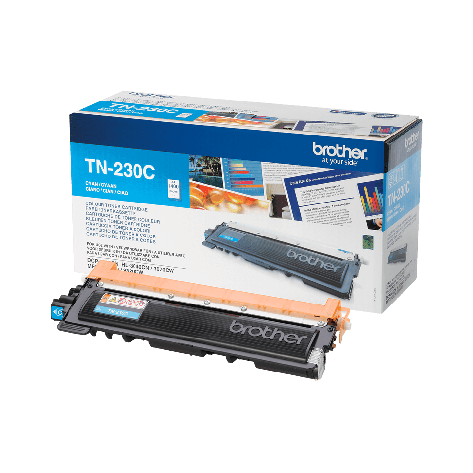 Originali Brother TN230C dažų kasetė – Cyan spalvos