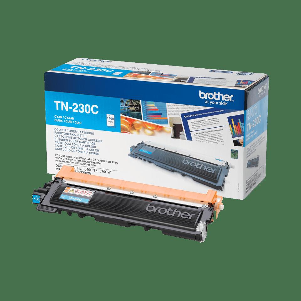 Originali Brother TN230C dažų kasetė – Cyan spalvos