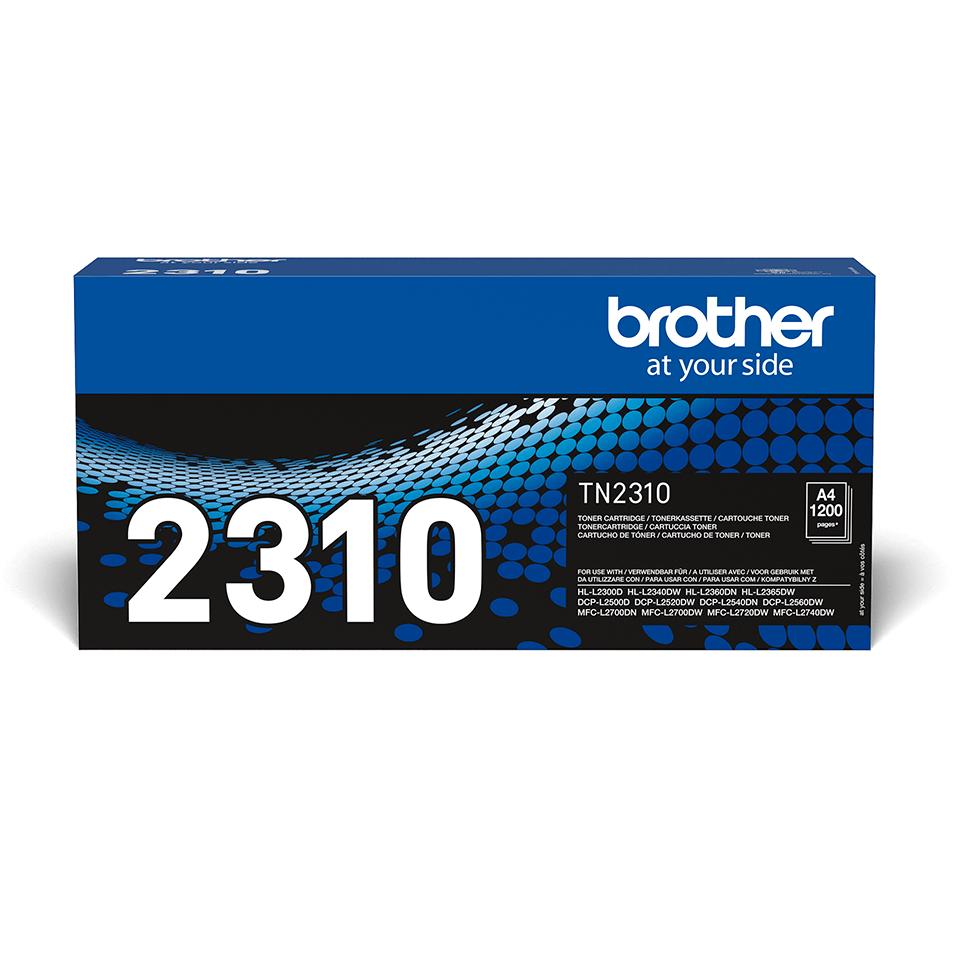Originali Brother TN2310 dažų kasetė – juodos spalvos