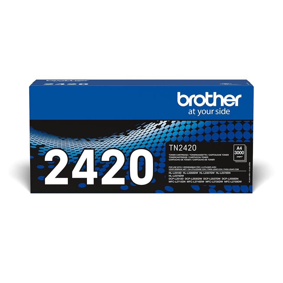 Originlai Brother TN-2420 juodos spalvos dažų kasetė